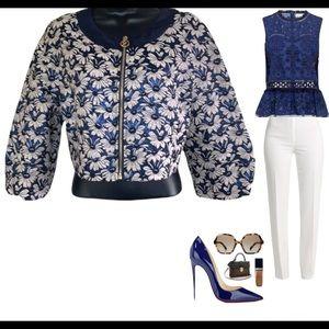 Gattinoni floral crop dress jacket size 10
